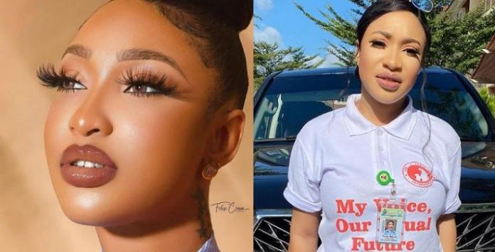 Tonto Dikeh vows to sue blogger who claimed she's linked with PRO-SARS protesters