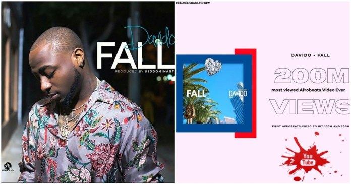 Davido Fall 200 Million Views