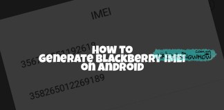Generate blackberry IMEI on Android
