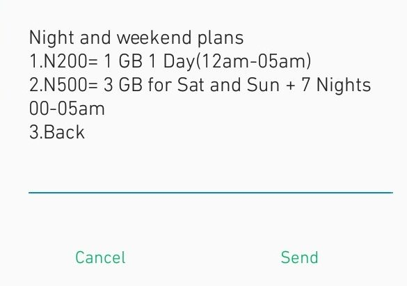 Glo Data Plans (night and weekly plans)