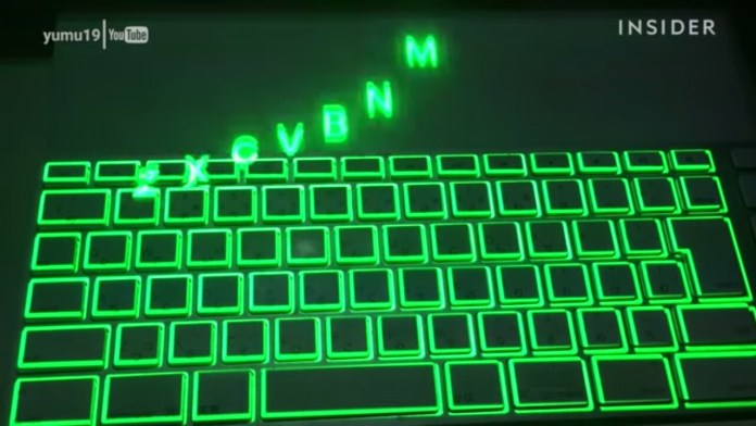 projection mapping keyboard