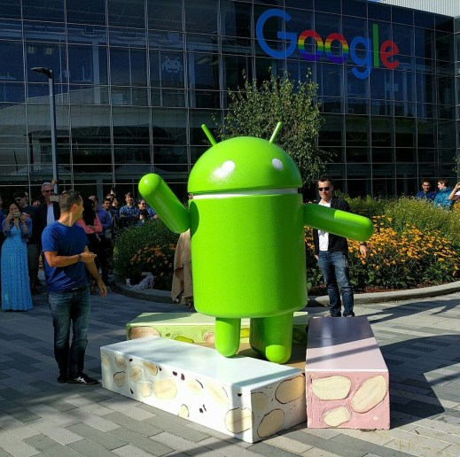 The Android Nougat statue. Image credit: Google