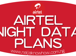 AIRTEL NIGHT PLANS AND SUBSCRIPTION CODES ON SMARTTRYBE TARIFF