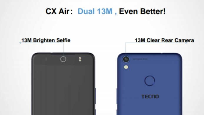 TECNO Camon CX Air Camera