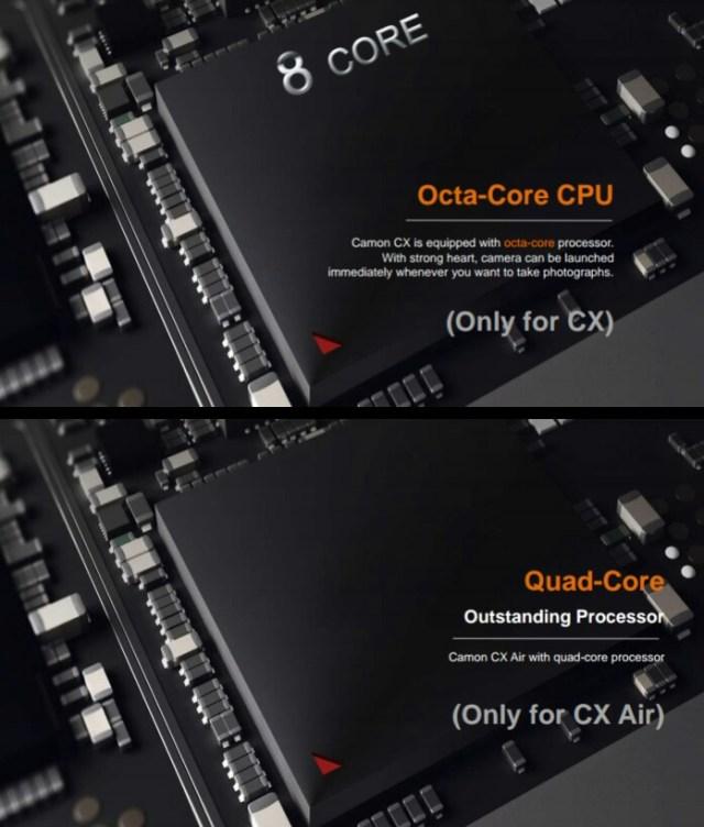 Tecno Camon CX and Camon CX Air Processor