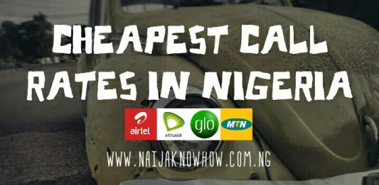 Cheapest call rates in Nigeria