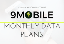 9MOBILE MONTHLY DATA PLANS