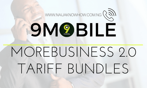 9MOBILE MOREBUSINESS 2.0 TARIFF BUNDLES AND SUBSCRIPTION CODES