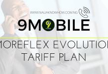 9MOBILE MOREFLEX EVOLUTION TARIFF PLAN