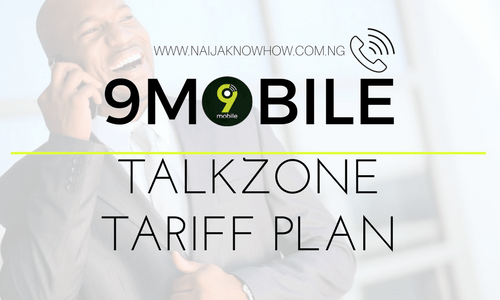 9MOBILE TALKZONE TARIFF PLAN