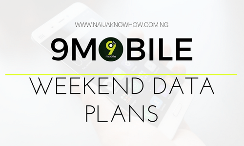 9MOBILE WEEKEND DATA PLANS