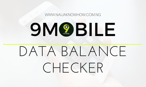 How To Check 9Mobile Data Balance on Android, Blackberry