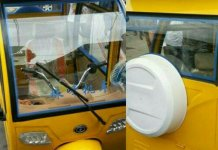 Solar powered tricycle keke in Lagos Nigeria