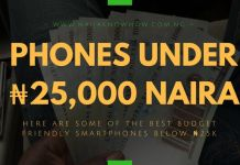 Best Phones Under 25000 Naira in Nigeria
