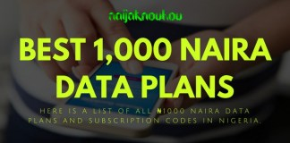 BEST 1000 NAIRA DATA PLANS AND SUBSCRIPTION CODES IN NIGERIA