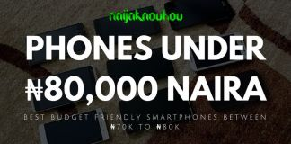 BEST PHONES UNDER 80000 NAIRA IN NIGERIA