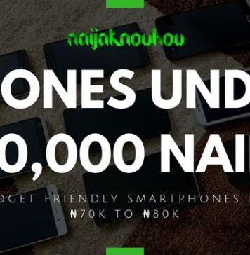 BEST PHONES UNDER 80000 NAIRA IN NIGERIA