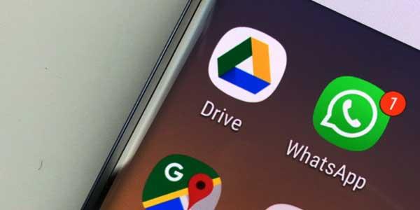 google drive and whatsapp