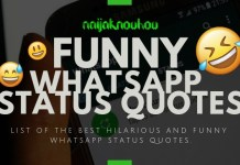 BEST FUNNY WHATSAPP STATUS QUOTES