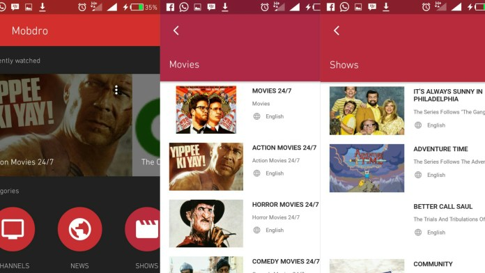 mobdro android app
