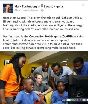 Facebook mark zuckerberg in nigeria