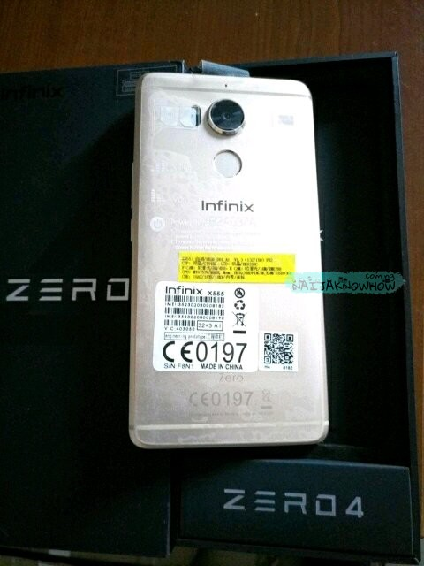 Infinix Zero 4 Picture Unbox