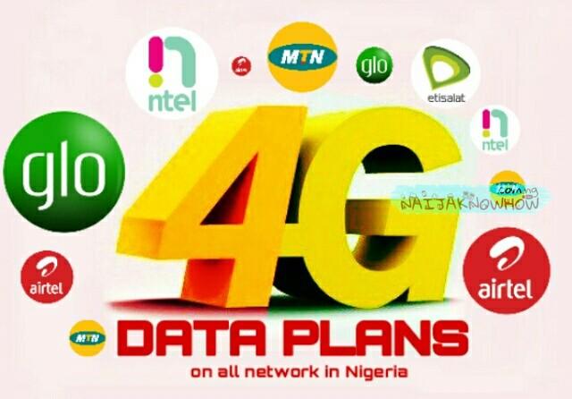Best 4G LTE Data Plans In Nigeria (MTN, Airtel, Glo, Etisalat & NTel