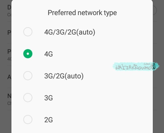 Set 4G LTE as your preferred network on Android