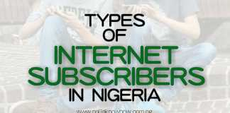 types of internet subscribers in Nigeria