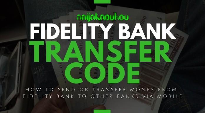 FIDELITY BANK TRANSFER CODE