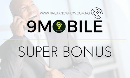 9MOBILE SUPER BONUS
