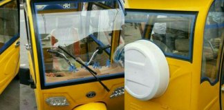 Solar powered tricycle keke in Lagos Nigeria