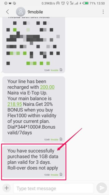 9Mobile 1GB for N200 Data Plan and Subscription Code