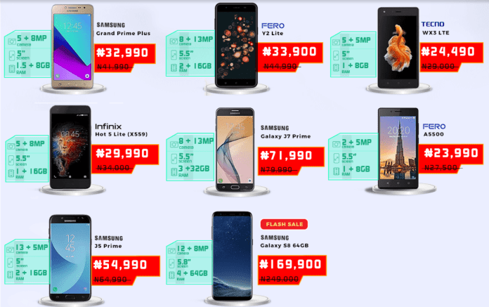Jumia Mobile Week 2018 -- Top Android Phones on Jumia Mobile Week To Buy