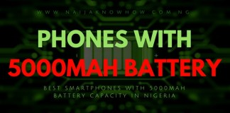 BEST PHONES WITH 5000MAH BATTERY CAPACITY IN NIGERIA