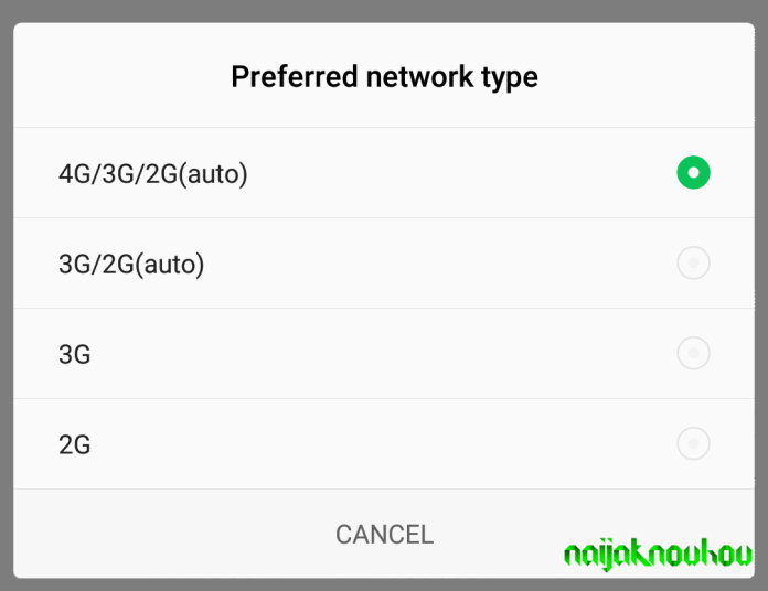 force 4g only mode
