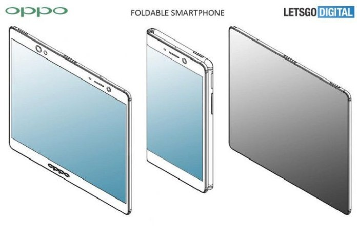 OPPO folding screen design