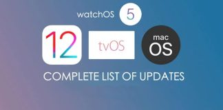 Apple Official Release iOS 12, watchOS 5, tvOS 12