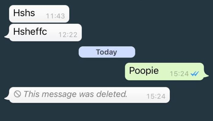 whatsapp delete for everyone feature
