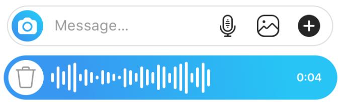 Instagram voice messages