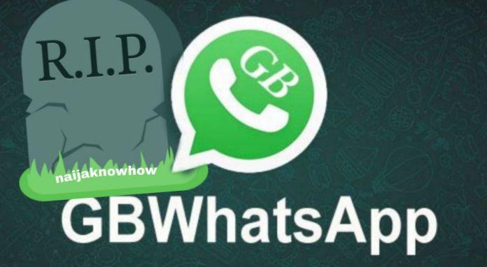 gbwhatsapp shuts down