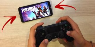play fornite with ps4 pad on Android