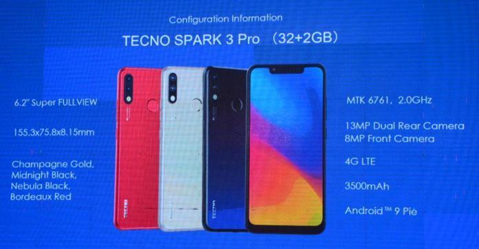 TECNO Spark 3 Pro Specs