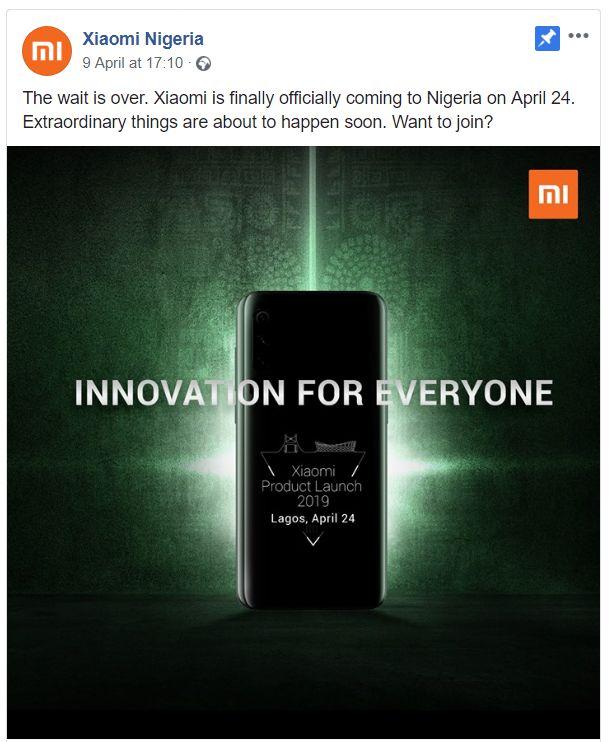 Xiaomi coming to Nigeria