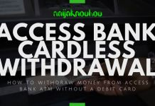 access bank cardless withdrawal