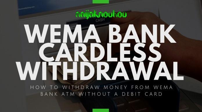 wema bank cardless withdrawal