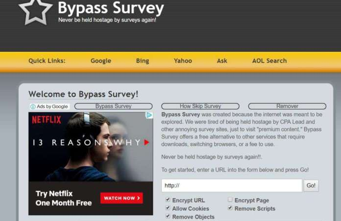 How To Bypass Survey Best Survey Removal Tools 2019 9japhones