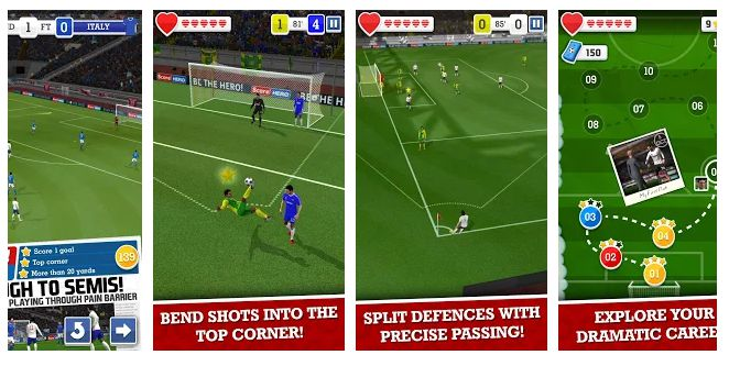 Score! Hero - best offline and online football android games