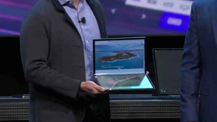CES-2020 Intel Horseshoe Bend foldable laptop