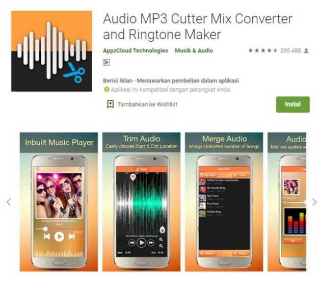 Audio MP3 Cutter Mix Converter and Ringtone Maker - audio editing app